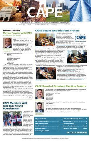 CAPE Newsletter Cover